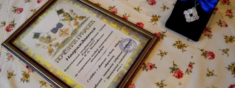 Награждение театра ШУТ