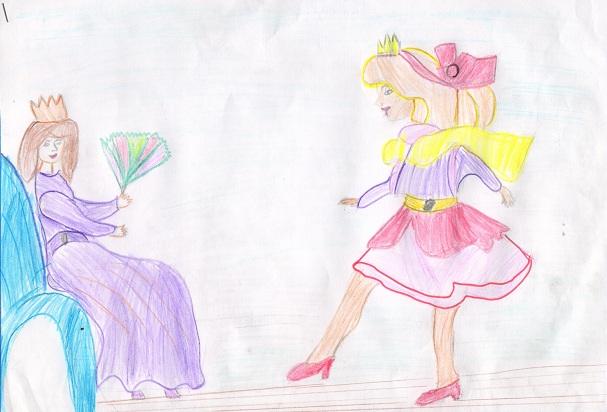 Прыгающая принцесса. Козорюк Яна 7 лет 1А МОУСОШ №9 Театр глазами детей