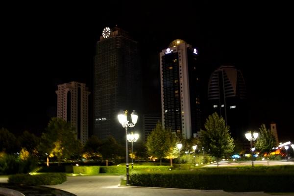 Грозный-Сити ночью